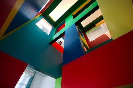 A view from inside the colourful Dick Bruna Huis exhibit