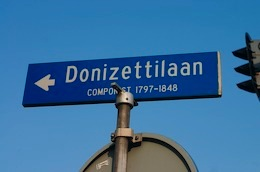 photo of blue street sign in Netherlands