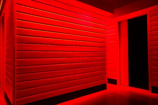 small rooms in red light