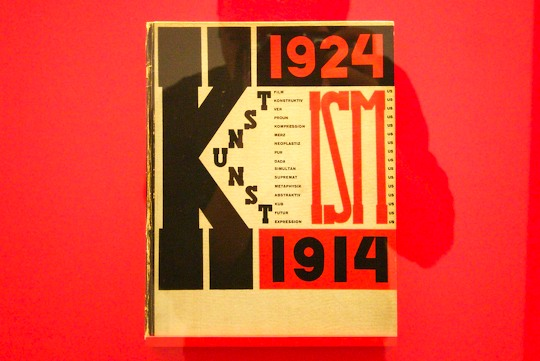 Book cover by Lissitzky