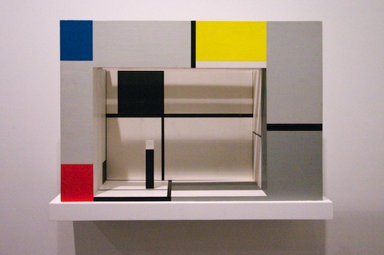 3D composition by Mondrian