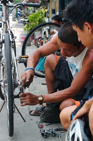 The bike mechanic