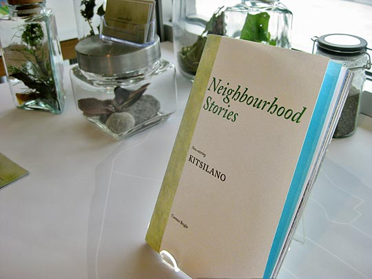 Neighbourhood printed guide to local stories