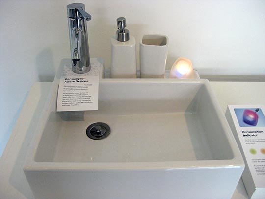 sink with indicator