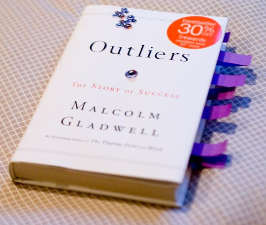 Malcolm Gladwell Outliers book cover photograph