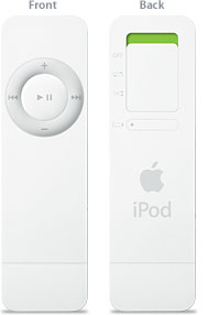 iPod Shuffle front and back view