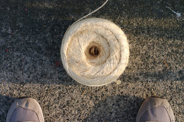 Approximately ~250m of twine used.