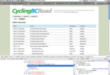 Cycling BC Road Online Calendar