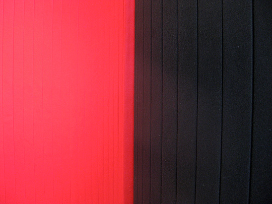 red and black room partition detail