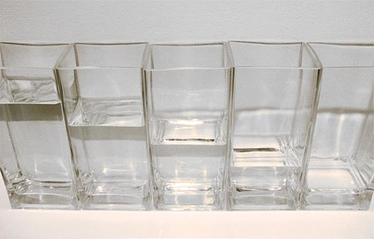 different water levels in different glasses